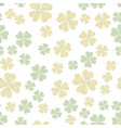 abstract seamless pattern with shamrock vector image
