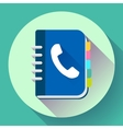 Address phone book icon notebook icon Flat vector image