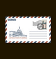 american postal envelope vector image vector image