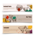 art cocktail party banners with splashes - menu vector image vector image