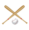 Baseball Bat and Ball2 vector image vector image