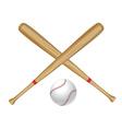 baseball bat and ball2 vector image vector image