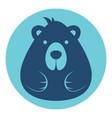 bear male logo silhouette head profile picture vector image