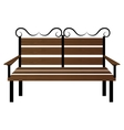 Bench or wooden chair icon design vector image