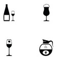 beverage icon set vector image