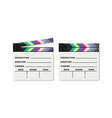 black closed clapperboard realistic vector image