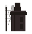 building under construction icon vector image vector image
