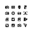 camera icons on white background vector image vector image