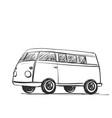 car icon in doodle sketch lines bus vector image vector image