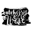 Catch Big Waves vector image