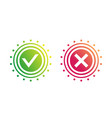 checkmark tick x cross vector image