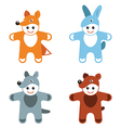 children carnival costumes animals hare fox wolf vector image