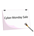 Clipboard and Paintbrush With Word Cyber Monday vector image vector image