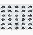 cloud icons set pictograph vector image