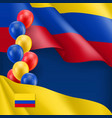 colombian patriotic background with space for text vector image vector image