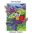 colorful halloween cute little vampire running vector image