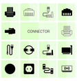 connector icons vector image vector image