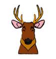 cute reindeer ico vector image