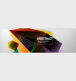 dark color geometric abstract background 3d vector image vector image