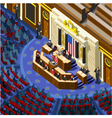 Election Infographic Congress Hall Us Isometric vector image vector image