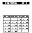 february calendar 2013 vector image vector image