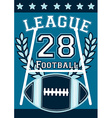 Football league banner with football embroidery vector image vector image