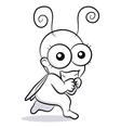 Funny bug vector image vector image