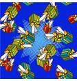 gifts pop art comics seamless pattern vector image vector image