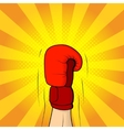 Hand of boxer in boxing glove vector image vector image