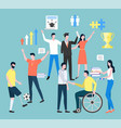handicapped people in community people collection vector image