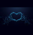 hands making heart sign valentines day vector image