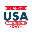 happy independence day poster or banner vector image