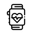 heart rate counter icon outline vector image vector image