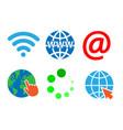 internet sign symbol set on white background vector image vector image