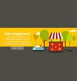 kids playground banner horizontal concept vector image