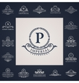 Luxury vintage logos set Calligraphic letter vector image vector image