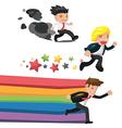 Man Fantasy Run Cartoon Concept vector image vector image