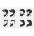 mens hairstyles and haircut with beard vector image vector image
