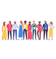 multiethnic people group workers team diverse vector image