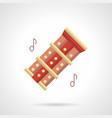 music folk instrument flat color icon vector image vector image