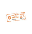 official visa stamp india delhi airport isolated vector image vector image