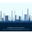 Oil and gas refinery vector image vector image