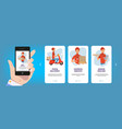 onboarding screens internet web cards frame vector image