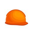 orange plastic helmet for builder protective vector image vector image
