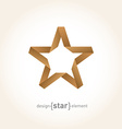 Origami Star from old paper on gradient background vector image vector image