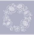 peony flower wreath vector image vector image