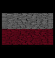 polish flag collage of warsaw text icons vector image vector image