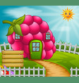 raspberyy house in garden vector image