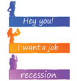 recession or job color vector image vector image