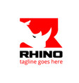 rhino letter based initial r symbol vector image vector image